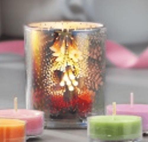 Teelichthalter mit Blüten-Illusion von PartyLite