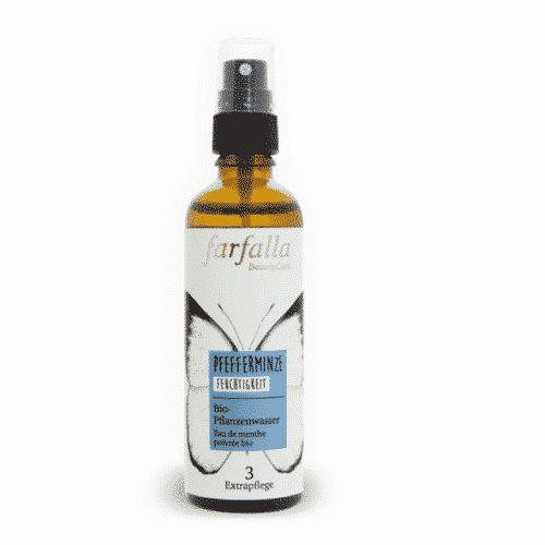 Pfefferminze Bio-Pflanzenwasser/Hydrolat Farfalla