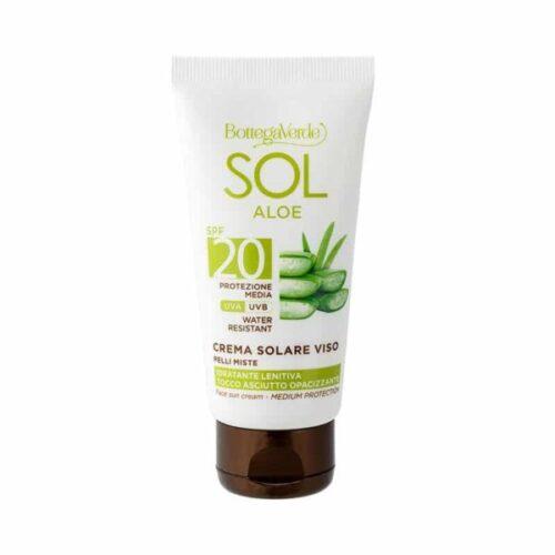 Aloe-Vera Gesichts-Sonnenschutzcreme LSF20 von Bottega Verde