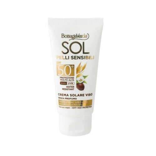 Gesichts-Sonnenschutz 50+ mit Hafermilch und Jojoba-Öl von Bottega Verde
