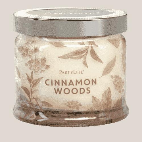 Cinnamon-Woods 3-Docht-Duftkerze PartyLite