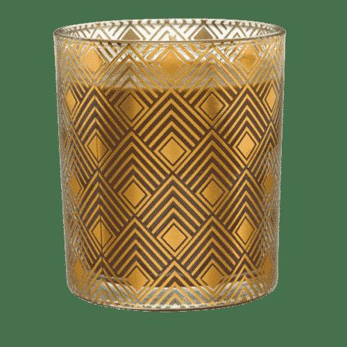 Duftkerze PartyLite Wildleder & Bernstein im Glas