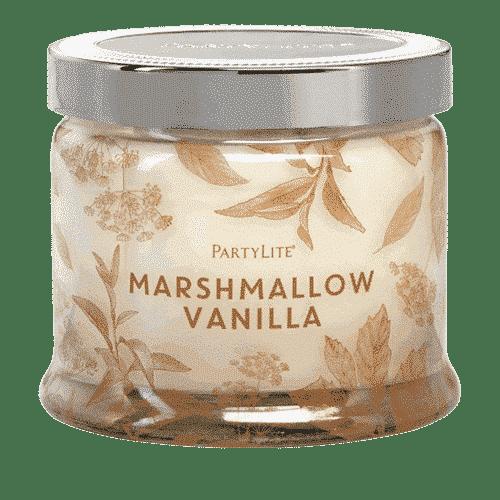 Marshmallow-Vanille 3-Docht-Duftkerze PartyLite
