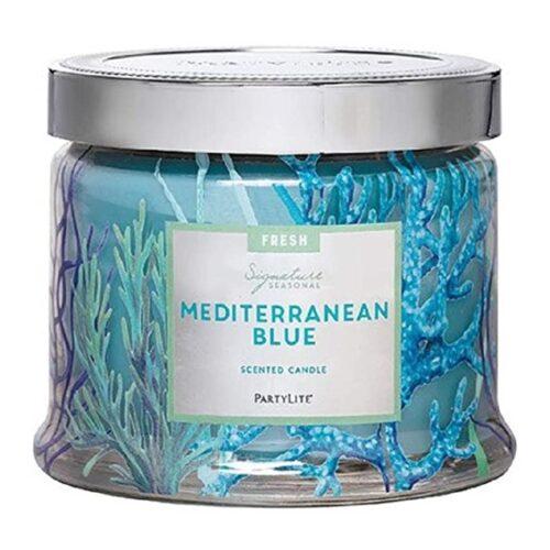 Blaues Mittelmeer PartyLite Duftkerze