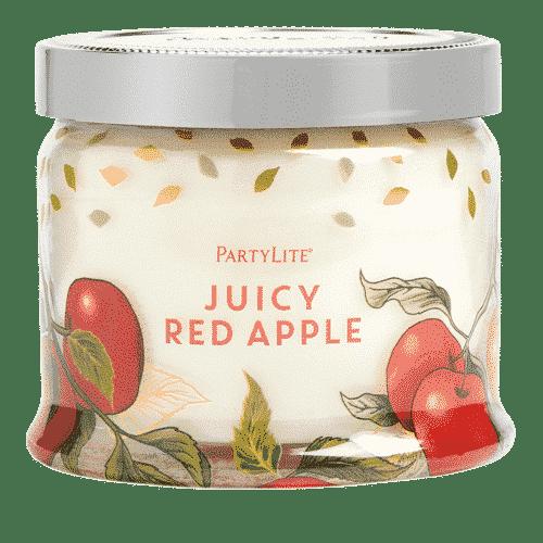 Juicy-Red-Apple 3-Docht-Duftkerze PartyLite