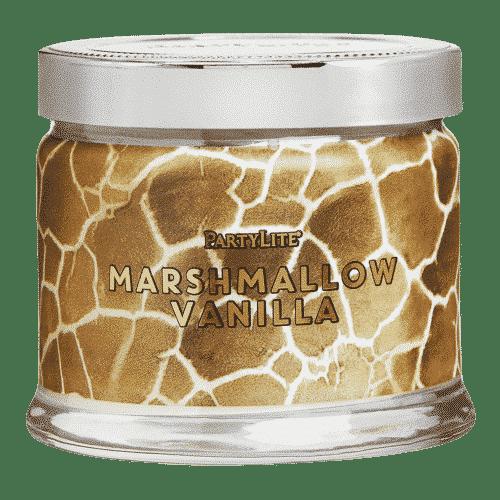 Marshmallow-Vanille 3-Docht-Duftkerze Giraffen-Print