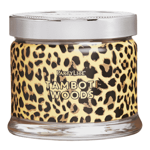 Tamboti-Woods 3-Docht-Duftkerze Leo-Print