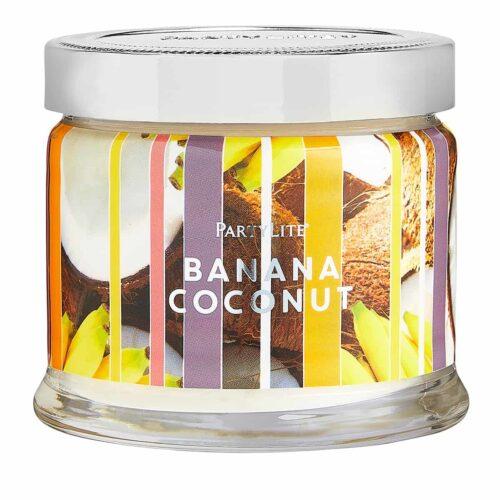 Banana-Coconut 3-Docht-Duftkerze PartyLite