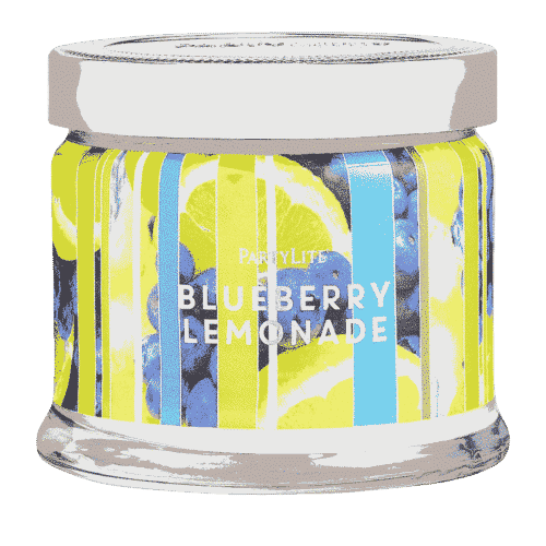 Blaubeere-Lemonade 3-Docht-Duftkerze PartyLite