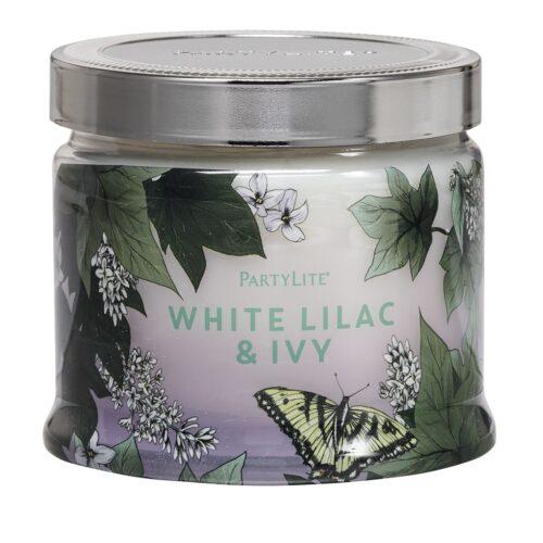 White-Lilac-&-Ivy 3-Docht-Duftkerze PartyLite