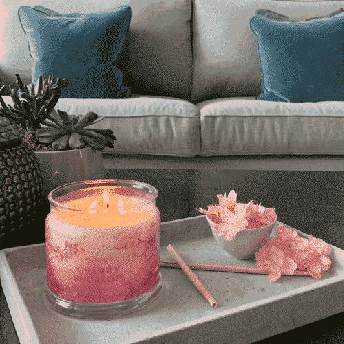Cherry-Blossom 3-Docht-Duftkerze PartyLite
