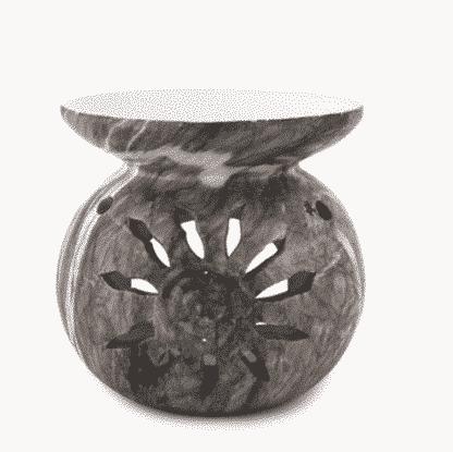 Aroma-Duftlampe Marmor-grau für ätherische Öle