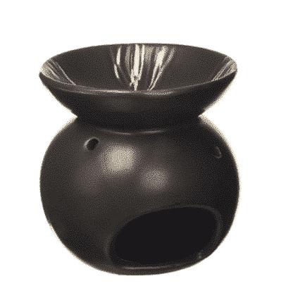 Aroma-Duftlampe Relief-schwarz-gold für ätherische Öle