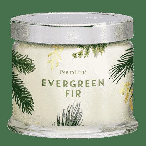 Evergreen-Fir 3-Docht-Duftkerze PartyLite