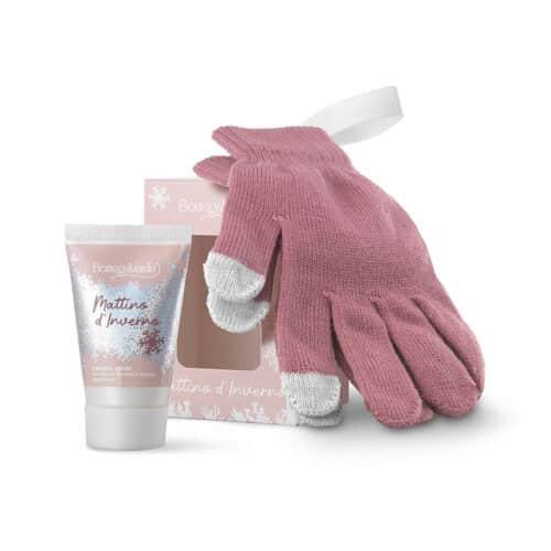 Wintermorgen-Geschenkset Handcreme mit Handschuhen von Bottega Verde