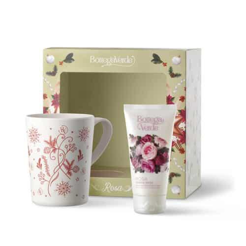 Geschenkset-Rosa mit Handcreme und Tasse von Bottega Verde