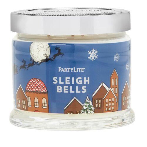 Sleigh-Bells 3-Docht-Duftkerze PartyLite