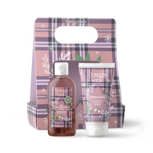 Winter-Handpflege-Set Desinfektionsgel und Handcreme Bottega Verde